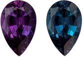 1.23 carat Perfect Gubelin Certified Alexandrite Pear Cut Gemstone, Vivid Blue Green to Eggplant Burgundy, 8.7 x 6.0 mm, 1.23 carats
