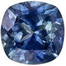 1.25 carats Montana Origin Cushion Cut Blue Green Sapphire Loose Gem, Medium Rich Blue, 6.0 mm Size