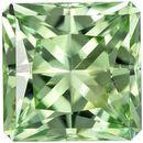 1.33 carats Mint Green Tourmaline Gemstone in Light Mint Green Color, 6.2 mm Princess Cut