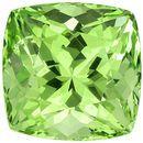 1.45 carats Fiery Garnet Gemstone in Cushion Cut in Mint Green, 5.9 x 5.8 mm Size
