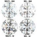 1 Carat Weight Diamond Parcel 100 Pieces 1.24 - 1.40 mm Choose Clarity & Color Grade