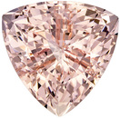 10.7 mm, 4.11 carats Trillion Cut Morganite Loose Gem, Intense Pink Peach Color Gemstone