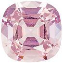 11.23 carats Rare Morganite in Vivid Pink Peach Color in Cushion Cut, 14.6 mm Gem