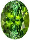 12.3 x 9.3 mm, 4.94 carats Green Tourmaline Gemstone in Oval Cut, Striking Vivid Grass Green Color