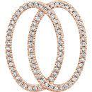 14 Karat Rose Gold 1/5 Carat Total Weight Geometric Diamond Pendant