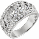 Perfect Gift Idea in 14 Karat White Gold 0.50 Carat Total Weight Diamond Band