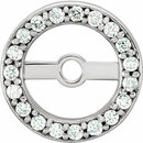 Fine Quality 14 Karat White Gold 5.15mm ID 0.12 Carat Total Weight Diamond Earring Jackets