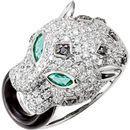 14 Karat White Gold Emerald