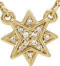 14 Karat Yellow Gold .04 Carat Total Weight Diamond 16-18