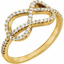 Perfect Gift Idea in 14 Karat Yellow Gold 0.33 Carat Total Weight Diamond Knot Ring