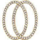 14 Karat Yellow Gold 1/5 Carat Total Weight Geometric Diamond Pendant