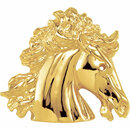 14 Karat Yellow Gold The Magnificent Lipizzaner Pendant