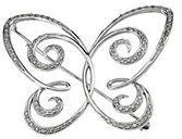 14KT White Gold 1/2 CTW Diamond Butterfly Brooch