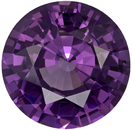 2.92 carats Beautiful Purple Spinel Loose Gem, Vivid Rich Purple Color in 9.1 mm ROund Cut