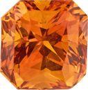 Killer Fire 2.98 carat Orange Sapphire Radiant Cut Super Gem , 7.6 x 7.2 mm