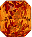 5.16 carats - GIA Certified Orange Sapphire in Radiant Cut, Stunning Gem in Sunkist Orange Color, 9.5 x 8.2 mm Size