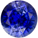 6.1 mm, 1.11 carats Loose Ceylon Blue Sapphire Gemstone in Round Cut, Rich Medium Blue COlor