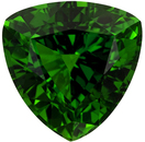 7.4 mm, 1.41 carats Trillion Chrome Tourmaline Gem, Vivid Grass Chromy Green Color