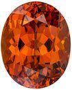 A True Gem! Clean Nigerian Orange Spessartite - Even Color & Great Life, Oval Cut, 10.16 carats