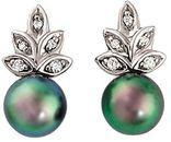 Akoya Cultured Pearl & Diamond Earrings