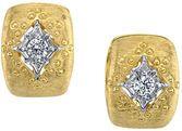 Amazing Designer 2-Tone 18kt Yellow Gold Hoop Earrings With 0.28ctw Diamonds
