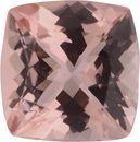 9.05 x 8.95 mm, Morganite Loose Gemstone in Antique Square Cut, Orangy Red, 2.88 carats