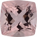 9.1 x 9.07 mm, Morganite Loose Gemstone in Antique Square Cut, Brownish Red, 3.25 carats