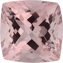 9.08 x 9.07 mm, Morganite Loose Gemstone in Antique Square Cut, Brownish Red, 3.64 carats