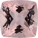 3.23 carats Antique Square Cut Genuine Morganite Gem, Brownish Red, 9.16 x 9.13 mm
