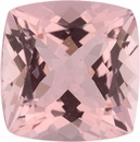 3.57 carats Antique Square Cut Genuine Morganite Gem, Brownish Red, 9.84 x 9.78 mm
