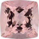 5.83 carats Antique Square Cut Genuine Morganite Gem, Brownish Red, 11.23 x 11.19 mm