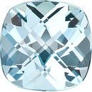 Genuine Cut Quality Antique Square Shape Checkerboard Sky Blue Topaz Gemstone Grade AAA, 10.00 mm in Size, 5.5 Carats