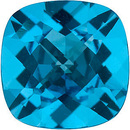 Standard Size Loose Genuine Antique Square Shape Swiss Blue Topaz Gem Grade AAA, 10.00 mm in Size, 5.5 Carats