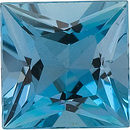 Faceted High Quality Blue Aquamarine Gem in Princess Shape Gemstone Grade GEM, 3.50 mm in Size, 0.22 carats