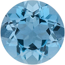 Faceted Natural Loose Aquamarine Gem in Round Shape Gemstone Grade AAA, 3.25 mm in Size, 0.13 carats