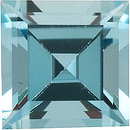 Genuine High Quality Faceted Aquamarine Gem in Step Shape Grade AA, 4.50 mm in Size, 0.45 carats