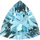 Faceted High Quality Blue Aquamarine Gem in Trillion Shape Grade AA, 3.50 mm in Size, 0.14 carats