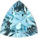Genuine Aquamarine Stone, Trillion Shape, Grade AA, 3.50 mm in Size, 0.14 carats