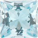 Natural Aquamarine Stone, Princess Shape, Grade A, 2.00 mm in Size, 0.05 carats