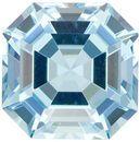 Asscher Cut Aquamarine Gemstone in Medium Rich Blue, 6.9 mm, 1.54 carats