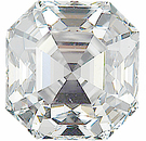 Asscher Cut Genuine Diamonds - G Color VS Clarity