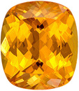 Attractive Spessartite Gem in Cushion Cut, Bright Orange Color, 7.5 x 6.5 mm, 1.97 carats