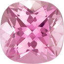 Baby Pink Color Tourmaline Loose Gem in Cushion Cut in 7.0 mm, 1.4 Carats