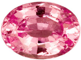 Beautiful Baby Pink Sapphire Gemstone, Very Clean, Oval Cut, 1.6 carats