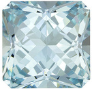 Beautiful Bright Radiant Cut Aquamarine Loose Gem in Medium Blue, 10.0 x 9.9 mm, 4.08 carats