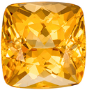 Beautiful Cushion Cut Topaz Loose Gem, Golden Peach, 8.2 x 8 mm, 3.16 carats