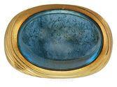 Beautiful Deep Blue Gem Grade Aquamarine Cabachon Designer Ring - SOLD
