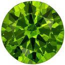 Beautiful Russia Demantoid Garnet Loose Gem in Round Cut, Intense Grass Green, 5 mm, 0.55 carats
