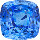 Bright Cornflower Blue Sapphire Cushion Cut Gemstone, Great Price in Medium Blue Color, 8.5 mm, 4.07 Carats