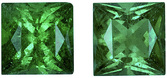 Bright Emerald Matched Pair in Princess Cut, Intense Green, 4.6 mm, 0.98 carats